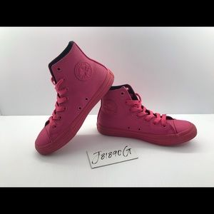 Converse CTAS Neon Pink Pebble Leather 2Y